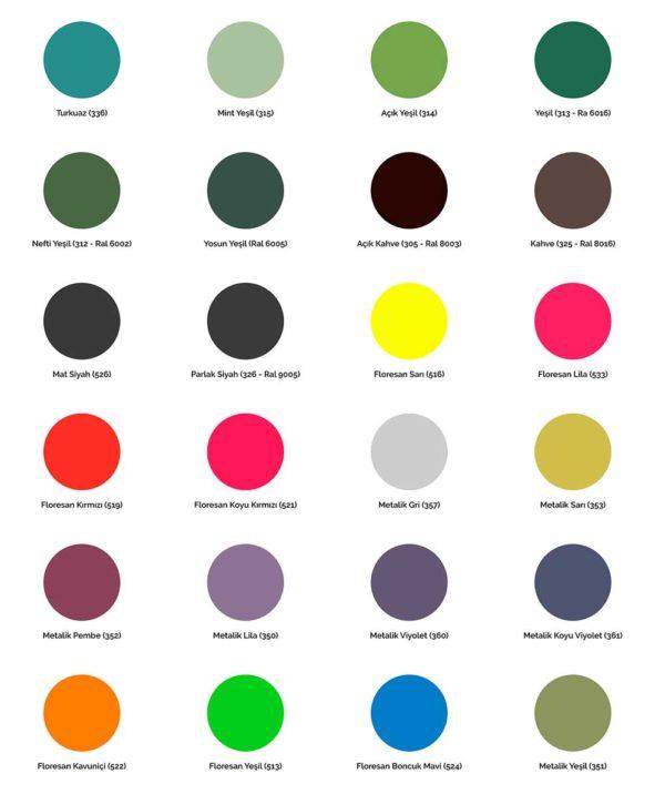 Akçalı Sprey Boya Renkleri